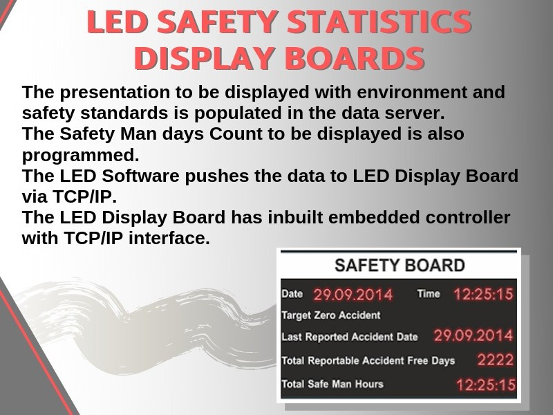 Edit Column Edit Text Editor LED Safety Statistic Display Boards